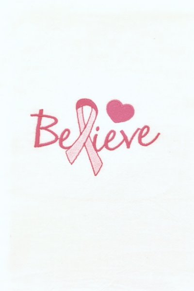 Believe Pink Ribbon